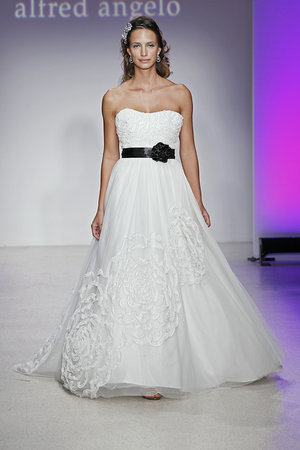 Wedding Dresses, A-line Wedding Dresses, Fashion, black, Modern Weddings, Alfred angelo
