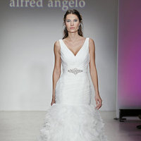 Wedding Dresses, Ruffled Wedding Dresses, Hollywood Glam Wedding Dresses, Fashion, Glam Weddings, V-neck Wedding Dresses, Alfred angelo