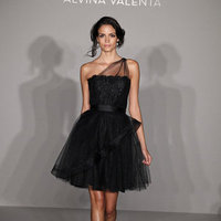 Wedding Dresses, Fashion, black, Alvina valenta, Short Wedding Dresses