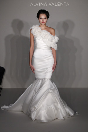 Wedding Dresses, One-Shoulder Wedding Dresses, Fashion, white, Alvina valenta