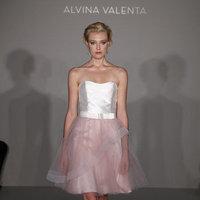 Wedding Dresses, Fashion, white, pink, Alvina valenta, Short Wedding Dresses