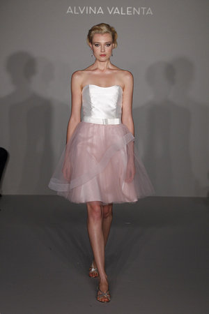 Wedding Dresses, Fashion, white, pink, Alvina valenta, Short Wedding Dresses