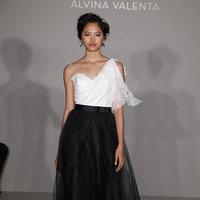 Wedding Dresses, One-Shoulder Wedding Dresses, Fashion, white, black, Alvina valenta