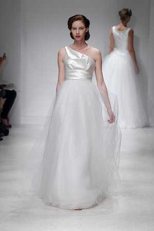 Wedding Dresses, One-Shoulder Wedding Dresses, A-line Wedding Dresses, Fashion