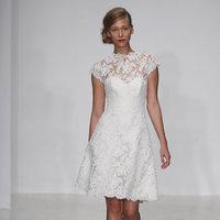 Wedding Dresses, Illusion Neckline Wedding Dresses, Lace Wedding Dresses, Vintage Wedding Dresses, Fashion, Vintage Weddings, Amsale, Short Wedding Dresses