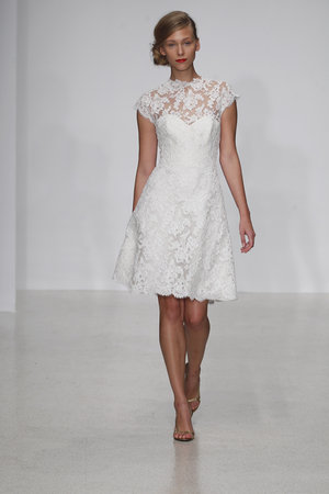 Wedding Dresses, Illusion Neckline Wedding Dresses, Lace Wedding Dresses, Vintage Wedding Dresses, Fashion, Vintage Weddings, Amsale, Short Wedding Dresses