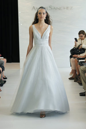 Wedding Dresses, Ball Gown Wedding Dresses, Romantic Wedding Dresses, Fashion, blue, V-neck Wedding Dresses, Angel sanchez
