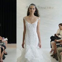 Wedding Dresses, Illusion Neckline Wedding Dresses, Mermaid Wedding Dresses, Ruffled Wedding Dresses, Fashion, Modern Weddings, Angel sanchez