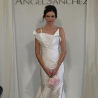 Wedding Dresses, Mermaid Wedding Dresses, Ruffled Wedding Dresses, Fashion, white, Modern Weddings, V-neck Wedding Dresses, Angel sanchez