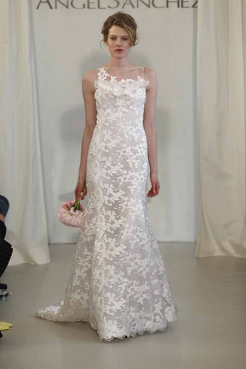 Wedding Dresses, Illusion Neckline Wedding Dresses, Mermaid Wedding Dresses, Lace Wedding Dresses, Fashion, white, Spring Weddings, Garden Weddings, Modern Weddings, Angel sanchez