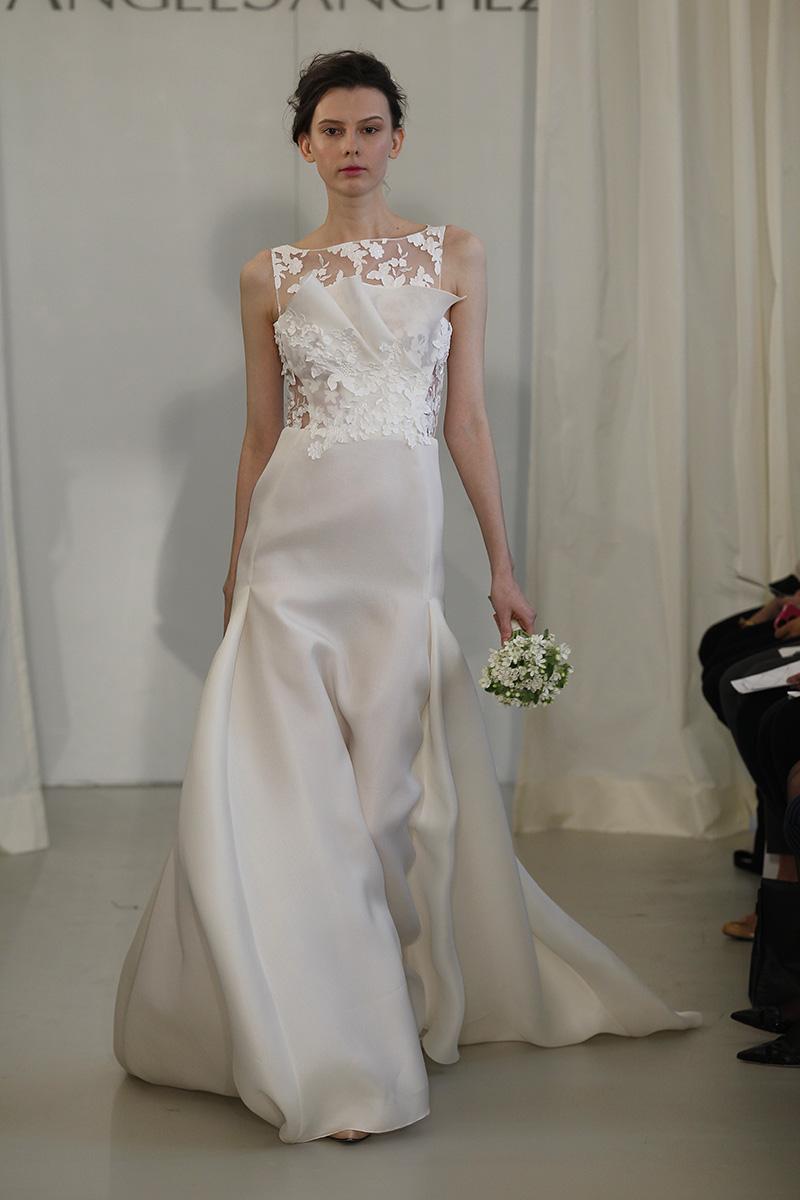 Wedding Dresses, Illusion Neckline Wedding Dresses, Mermaid Wedding Dresses, Lace Wedding Dresses, Fashion, white, Modern Weddings, Angel sanchez