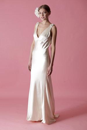 Wedding Dresses, Vintage Wedding Dresses, Hollywood Glam Wedding Dresses, Fashion, Glam Weddings, Vintage Weddings, V-neck Wedding Dresses, Badgley mischka, Art Deco Weddings