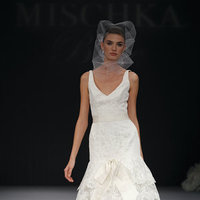 Wedding Dresses, Mermaid Wedding Dresses, Ruffled Wedding Dresses, Fashion, V-neck Wedding Dresses