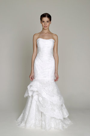 Wedding Dresses, Sweetheart Wedding Dresses, Mermaid Wedding Dresses, Ruffled Wedding Dresses, Lace Wedding Dresses, Romantic Wedding Dresses, Fashion, Bliss by Monique Lhuillier