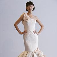 Wedding Dresses, One-Shoulder Wedding Dresses, Mermaid Wedding Dresses, Ruffled Wedding Dresses, Hollywood Glam Wedding Dresses, Fashion, pink, Glam Weddings, Dennis basso