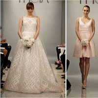 Wedding Dresses, Bridesmaid Dresses, Illusion Neckline Wedding Dresses, Fashion, pink, Modern Weddings, Theia