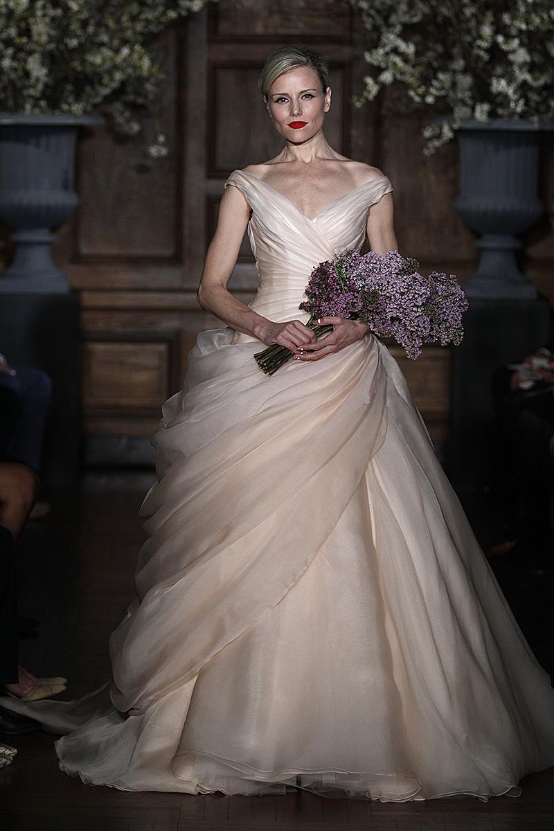 Wedding Dresses, Romantic Wedding Dresses, Traditional Wedding Dresses, Fashion, pink, Classic Weddings, Romona Keveza Couture
