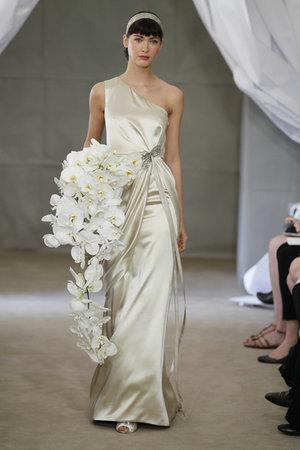 Wedding Dresses, One-Shoulder Wedding Dresses, Hollywood Glam Wedding Dresses, Fashion, gold, Glam Weddings, Carolina herrera