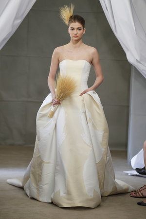 Wedding Dresses, Ball Gown Wedding Dresses, Fashion, gold, Classic Weddings, Strapless Wedding Dresses, Carolina herrera