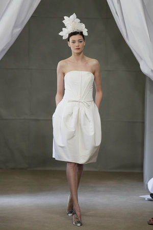 Wedding Dresses, Fashion, Strapless Wedding Dresses, Carolina herrera, Short Wedding Dresses