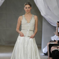 Wedding Dresses, Fashion, silver, Glam Weddings, Modern Weddings, V-neck Wedding Dresses, Carolina herrera