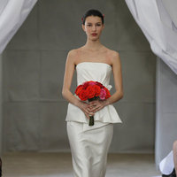 Wedding Dresses, Fashion, Modern Weddings, Strapless Wedding Dresses, Carolina herrera, Peplum Wedding Dresses