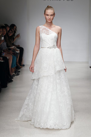 Wedding Dresses, One-Shoulder Wedding Dresses, Ruffled Wedding Dresses, Fashion