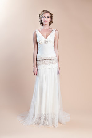 Wedding Dresses, Vintage Wedding Dresses, Fashion, Boho Chic Weddings, Vintage Weddings, V-neck Wedding Dresses, Claire pettibone, Art Deco Weddings