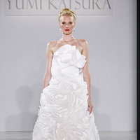 Wedding Dresses, A-line Wedding Dresses, Ruffled Wedding Dresses, Hollywood Glam Wedding Dresses, Fashion, white, Glam Weddings, Modern Weddings, Strapless Wedding Dresses, Yumi Katsura