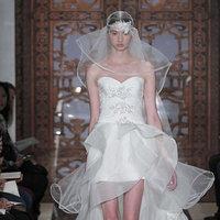 Wedding Dresses, Sweetheart Wedding Dresses, Ruffled Wedding Dresses, Fashion, white, Modern Weddings, Reem acra, Short Wedding Dresses