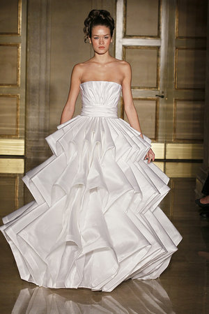 Wedding Dresses, Ball Gown Wedding Dresses, Fashion, white, City Weddings, Modern Weddings, Strapless Wedding Dresses, Douglas hannant