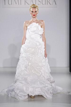 Wedding Dresses, A-line Wedding Dresses, Ruffled Wedding Dresses, Hollywood Glam Wedding Dresses, Fashion, white, Glam Weddings, Modern Weddings, Strapless Wedding Dresses, Yumi Katsura
