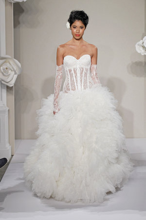Wedding Dresses, Sweetheart Wedding Dresses, Ball Gown Wedding Dresses, Ruffled Wedding Dresses, Fashion, white, Glam Weddings, Pnina tornai