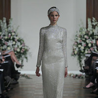 Wedding Dresses, Vintage Wedding Dresses, Hollywood Glam Wedding Dresses, Fashion, silver, Glam Weddings, Jenny packham, Wedding Dresses with Sleeves, Art Deco Weddings