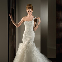 Wedding Dresses, One-Shoulder Wedding Dresses, Mermaid Wedding Dresses, Ruffled Wedding Dresses, Fashion