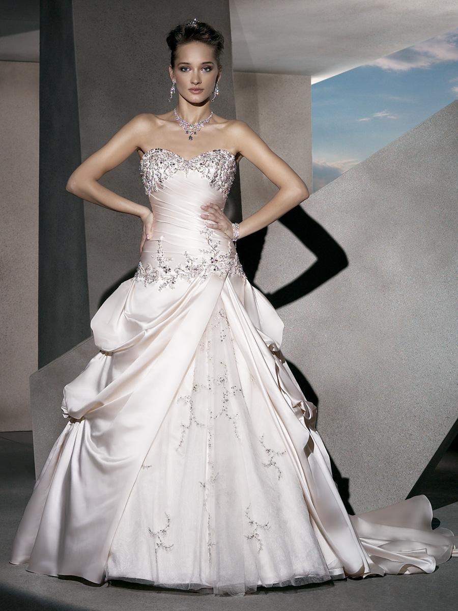 Wedding Dresses, Sweetheart Wedding Dresses, A-line Wedding Dresses, Fashion, Beaded Wedding Dresses