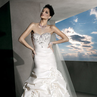 Wedding Dresses, Sweetheart Wedding Dresses, Mermaid Wedding Dresses, Fashion, taffeta wedding dresses, wedding dresses with ruching