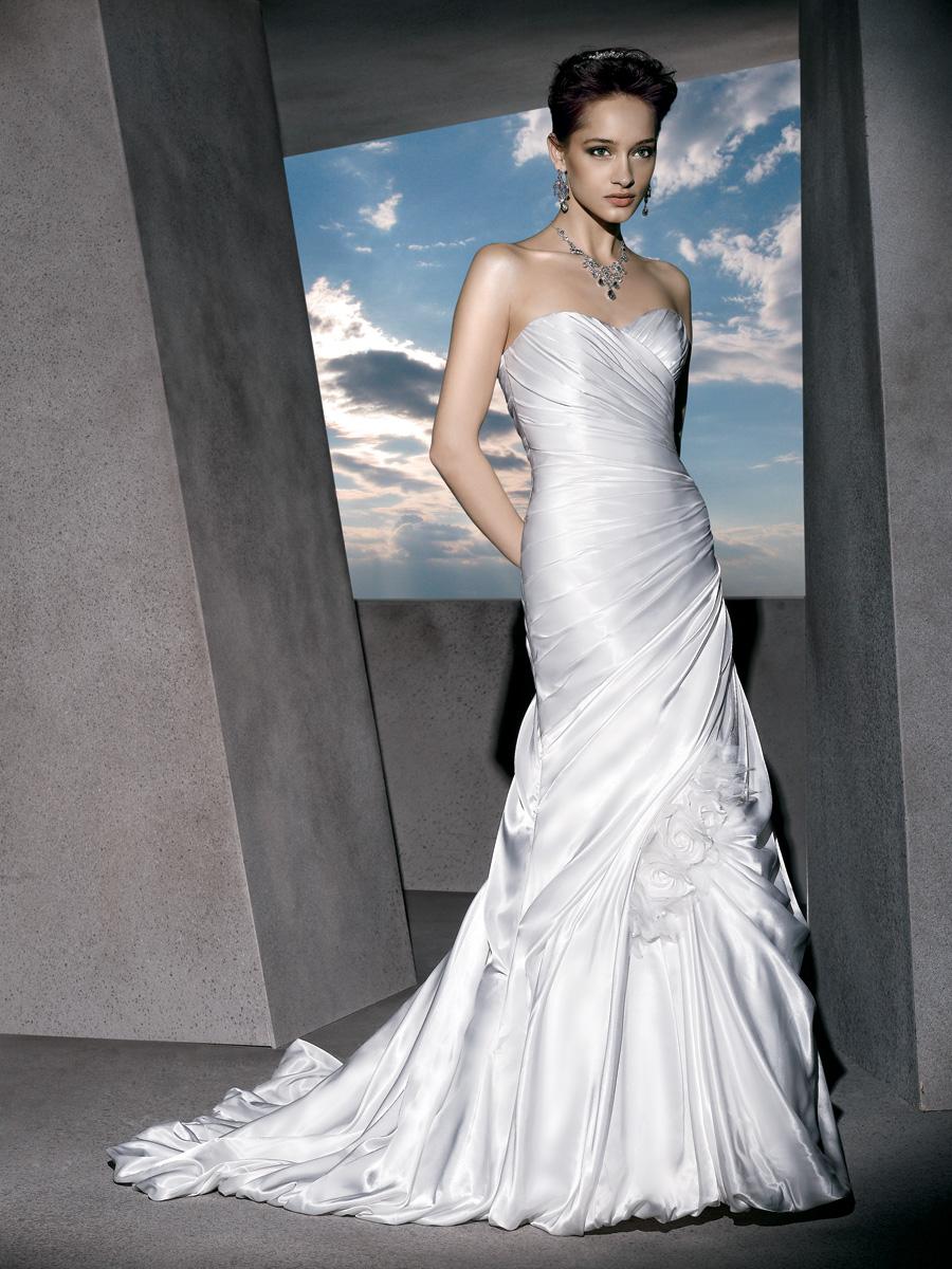 Wedding Dresses, Sweetheart Wedding Dresses, Mermaid Wedding Dresses, Ruffled Wedding Dresses, Fashion, wedding dresses with ruching, trumpet wedding dresses