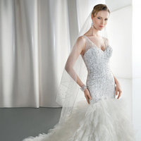 Wedding Dresses, Mermaid Wedding Dresses, Ruffled Wedding Dresses, Hollywood Glam Wedding Dresses, Fashion, Glam Weddings, Modern Weddings, V-neck Wedding Dresses, Demetrios