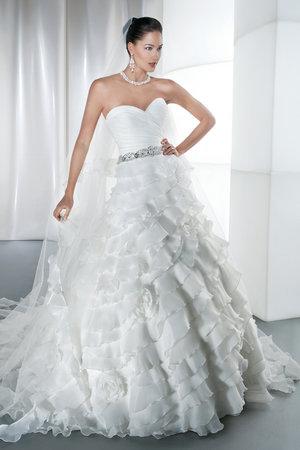 Wedding Dresses, Sweetheart Wedding Dresses, A-line Wedding Dresses, Ruffled Wedding Dresses, Fashion, Demetrios