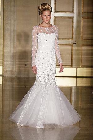 Wedding Dresses, Illusion Neckline Wedding Dresses, Mermaid Wedding Dresses, Lace Wedding Dresses, Fashion, Douglas hannant