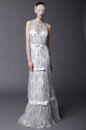 Wedding Dresses, Illusion Neckline Wedding Dresses, Lace Wedding Dresses, Romantic Wedding Dresses, Fashion, silver, Boho Chic Weddings, Modern Weddings, Douglas hannant