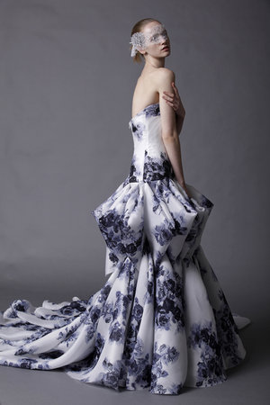 Wedding Dresses, Ball Gown Wedding Dresses, Fashion, purple, blue, Modern Weddings, Strapless Wedding Dresses, Douglas hannant