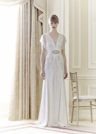 Wedding Dresses, Vintage Wedding Dresses, Hollywood Glam Wedding Dresses, Fashion, Glam Weddings, V-neck Wedding Dresses, Jenny packham, Art Deco Weddings