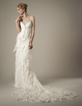 Wedding Dresses, Ruffled Wedding Dresses, Hollywood Glam Wedding Dresses, Fashion, Glam Weddings, Elizabeth fillmore, Art Deco Weddings