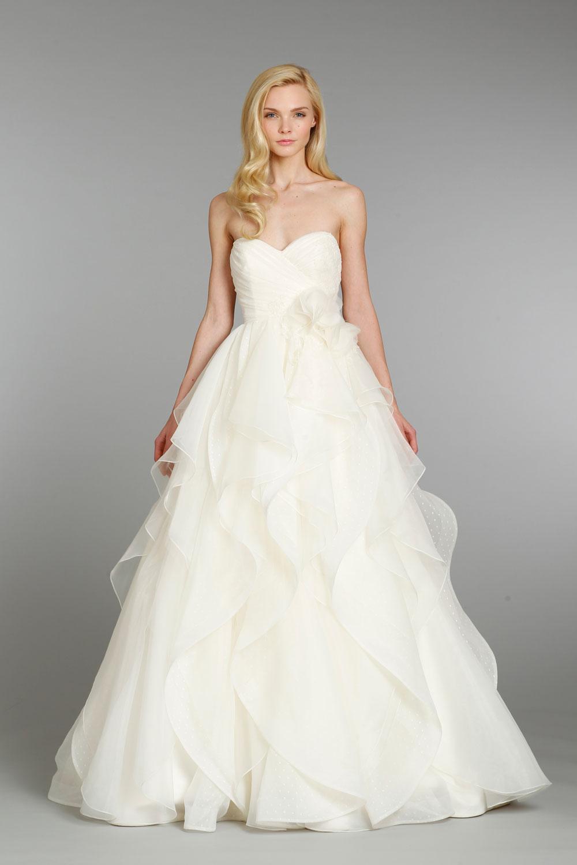 Fashion, Wedding Dresses, Hayley Paige, Sweetheart Wedding Dresses, Ruffled Wedding Dresses, Ball Gown Wedding Dresses, Romantic Wedding Dresses