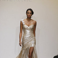 Wedding Dresses, Sweetheart Wedding Dresses, One-Shoulder Wedding Dresses, Beach Wedding Dresses, Hollywood Glam Wedding Dresses, Fashion, gold, Beach Weddings, Glam Weddings, Modern Weddings, Ines di santo, Short Wedding Dresses