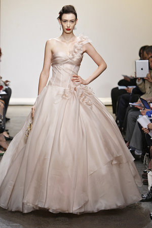 Wedding Dresses, One-Shoulder Wedding Dresses, Ball Gown Wedding Dresses, Fashion, pink, Spring Weddings, Garden Weddings, Ines di santo