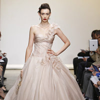 Wedding Dresses, One-Shoulder Wedding Dresses, Ball Gown Wedding Dresses, Fashion, pink, Spring Weddings, Garden Weddings, Ines di santo