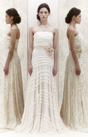 Wedding Dresses, Ruffled Wedding Dresses, Romantic Wedding Dresses, Vintage Wedding Dresses, Fashion, Spring Weddings, Boho Chic Weddings, Vintage Weddings, Strapless Wedding Dresses, Jenny packham, Art Deco Weddings